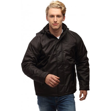 Wild Nature Black Men's Hooded Down Watherproof Jacket