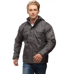 Wild Nature Grey Men's Hooded Down Watherproof Jacket