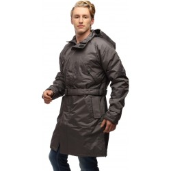 Wild Nature Mens Waterproof Trench Coat With Detachable Hood (Grey)