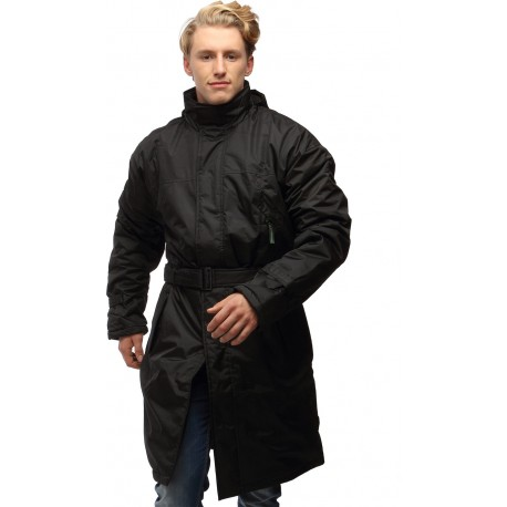 Wild Nature Mens Waterproof Trench Coat With Detachable Hood (Black)
