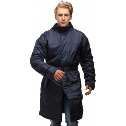 Wild Nature Mens Waterproof Trench Coat With Detachable Hood (Blue)