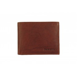 Nameste 8 Cards Bi-Fold Men's Black Leather Wallet