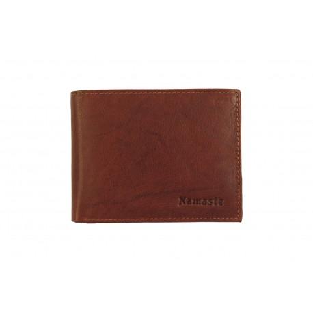 Nameste 8 Cards Bi-Fold Men's Black Leather Wallet