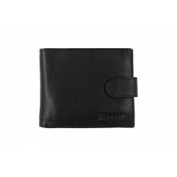 10 Cards Bi-Fold Men's Leather Wallet with Button Closure (NME 1962L)