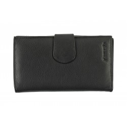 11 Cards Bi-Fold Women's Formal Leather Wallet with Button Closure(NME 9742)