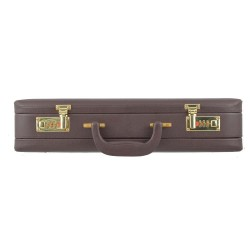 Expandable Leather Briefcase