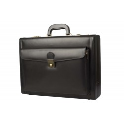 Secret Compartment Leather Briefcase
