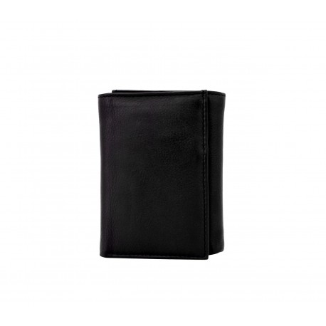 Nine Cards Tri-Fold Unisex    Leather Wallet with RFID Protection